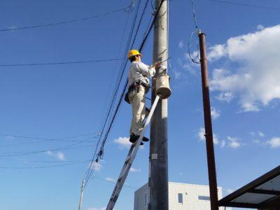 防犯灯の工事もしています。